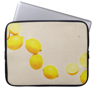 String of Lemons On Vintage Background Laptop Sleeve