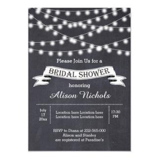 String of lights & banner wedding bridal shower 13 cm x 18 cm invitation card