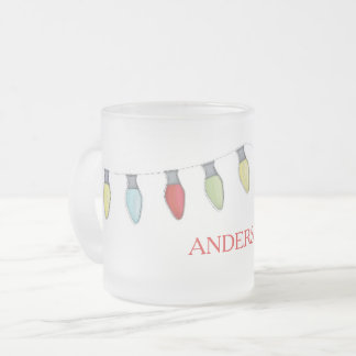 String of Lights Frosted Mug
