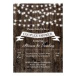 String of lights, old wood wedding couples shower