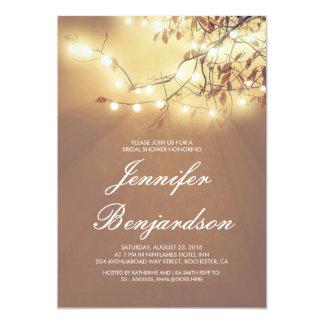 String of Lights Outdoor Bridal Shower 13 Cm X 18 Cm Invitation Card