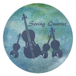 String Quartet on Blue Plate