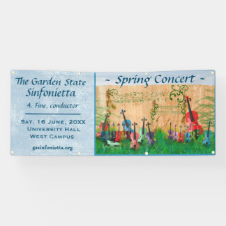 Stringed Instrument Garden Concert Announcement