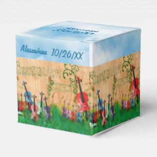 Stringed Instruments Garden Custom Text Wrap-Aroun Favour Box