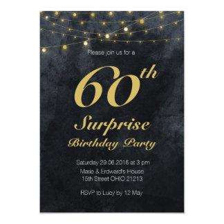 Stringlights surprise birthday party Invitation