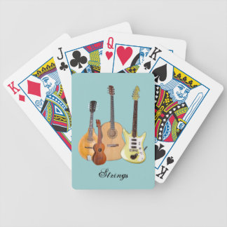 Strings-Four Instruments Bicycle Playing Cards
