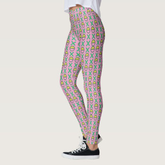 Strings of Graphical Symbols on any Colour Leggings