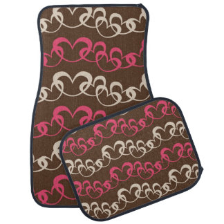 Strings of Hearts on Chocolate Car Mats