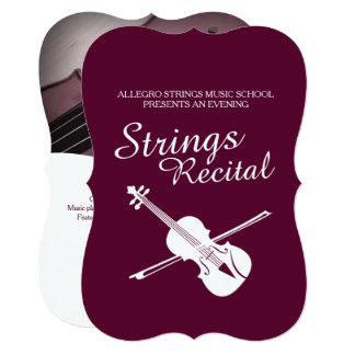Strings recital violin classic music invitation