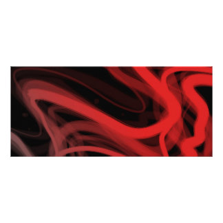 Stringy Red Abstract Rack Card Template