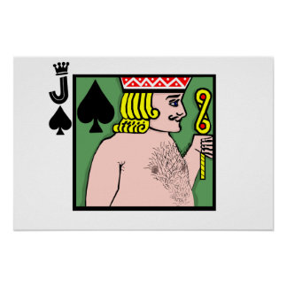 Strip Poker Jack of Spades Poster