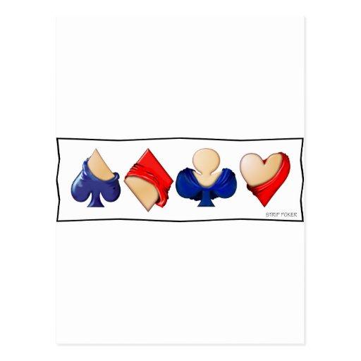 Strip Poker Post Card