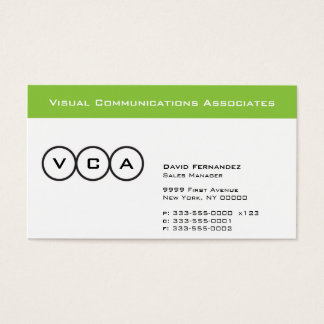 Stripe and Circles Business Card