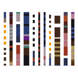 Stripe Art Postcard