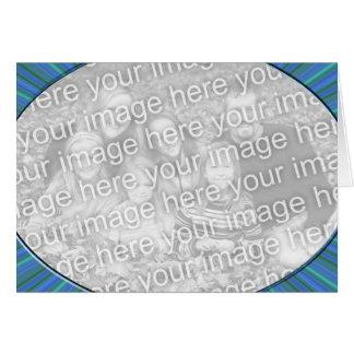 stripe blue frame greeting card