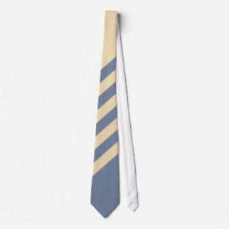 Stripe Cream Blue Tie
