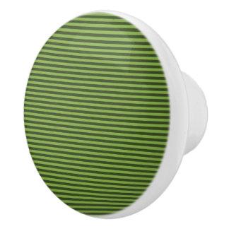 Stripe Design - Greenery - Drawer Knob