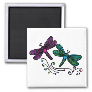 Stripe dragonflies magnet