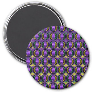Stripe Mardi Gras Fleur de lis Refrigerator Magnets