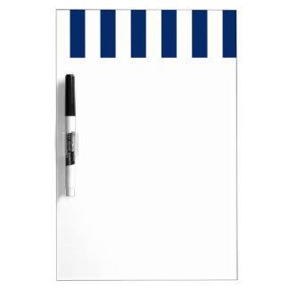 stripe&navy dry erase board