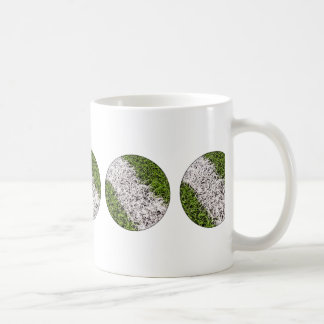 Stripe on grass coffee mug