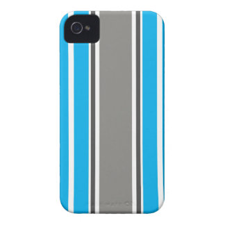 Stripe Pattern - Blue and Grey iPhone 4 & 4S Case