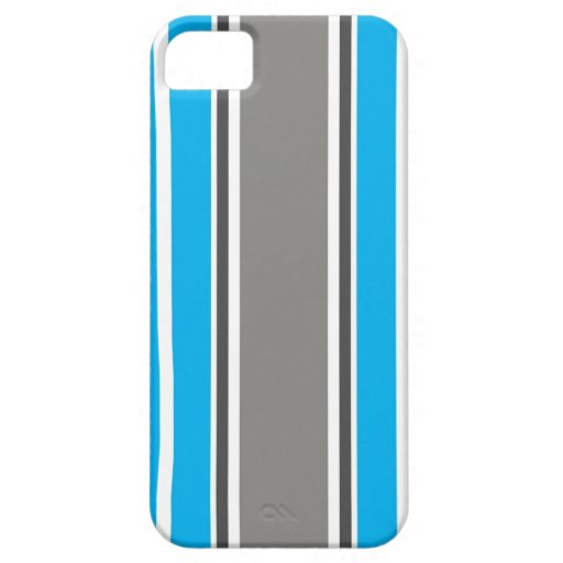 Stripe Pattern - Blue and Grey iPhone 5 &  Case iPhone 5 Covers