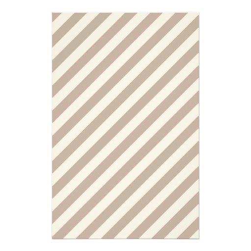 Stripe Pattern in Neutral Colors . Custom Flyer