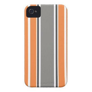 Stripe Pattern - Orang and Grey iPhone 4 & 4S Case