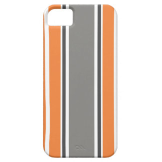 Stripe Pattern - Orang and Grey iPhone 5 &  Case iPhone 5 Covers