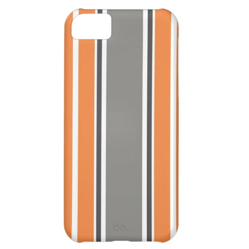 Stripe Pattern - Orang and Grey iPhone 5 & Case iPhone 5C Case