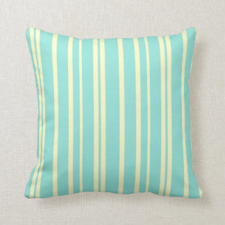 STRIPE PATTERN PILLOW, Pastel Yellow & Mint Cushion