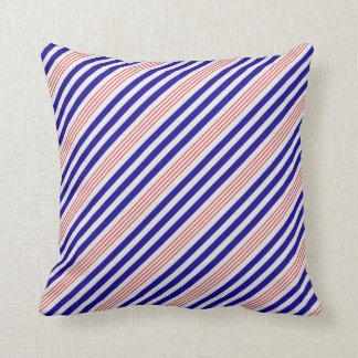 STRIPE PATTERN PILLOW, Red White & Blue Cushion