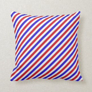 STRIPE PATTERN PILLOW, Red White & Blue Cushion