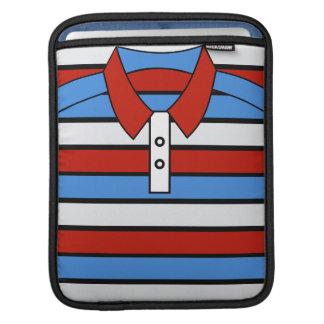 Stripe Polo Shirt Design iPad Sleeve