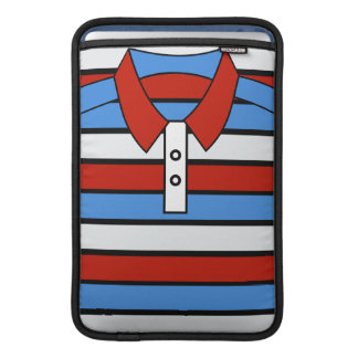 Stripe Polo Shirt Design Macbook Air Sleeve