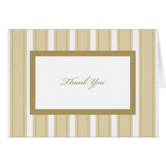 Stripe Sympathy or Funeral Thank You Card
