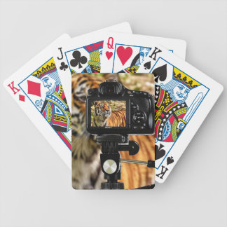 Stripe Tiger In Photo Shoot Bicycle Playing Cards