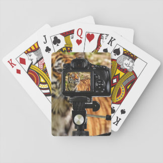 Stripe Tiger In Photo Shoot Playing Cards