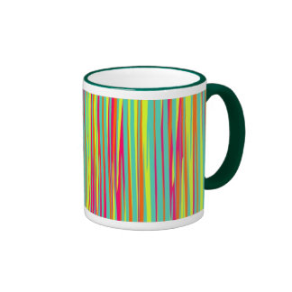 Striped Abstract Design Coffee Mugs