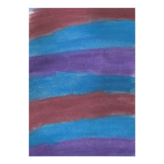 Striped Abstract Watercolor Art Poster
