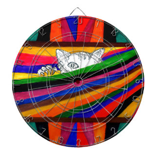 Striped Abstraction Design2 Dartboard