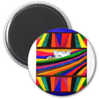 Striped Abstraction Design2 Magnet