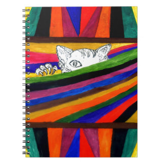 Striped Abstraction Design2 Notebook