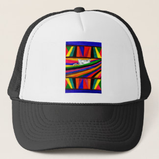 Striped Abstraction Design2 Trucker Hat