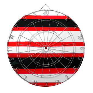 Striped Abstraction Design Dartboard