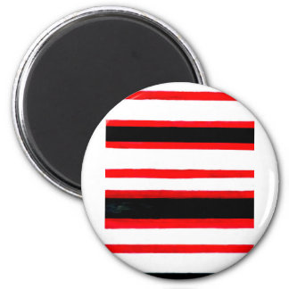 Striped Abstraction Design Magnet