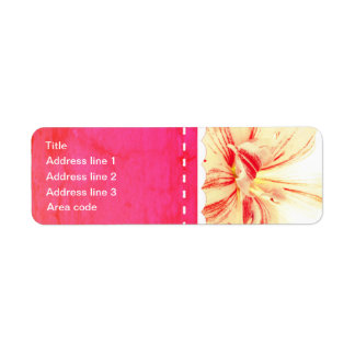 Striped Amaryllis Flower Custom Wedding Return Address Label