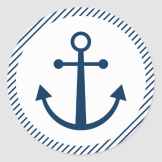 Striped anchor stickers