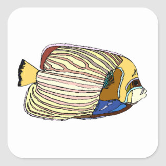 Striped Angel Fish Stickers